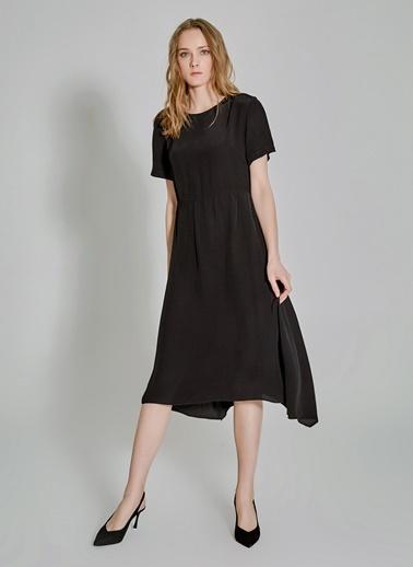 People By Fabrika Yarım Kollu Elbise Siyah
